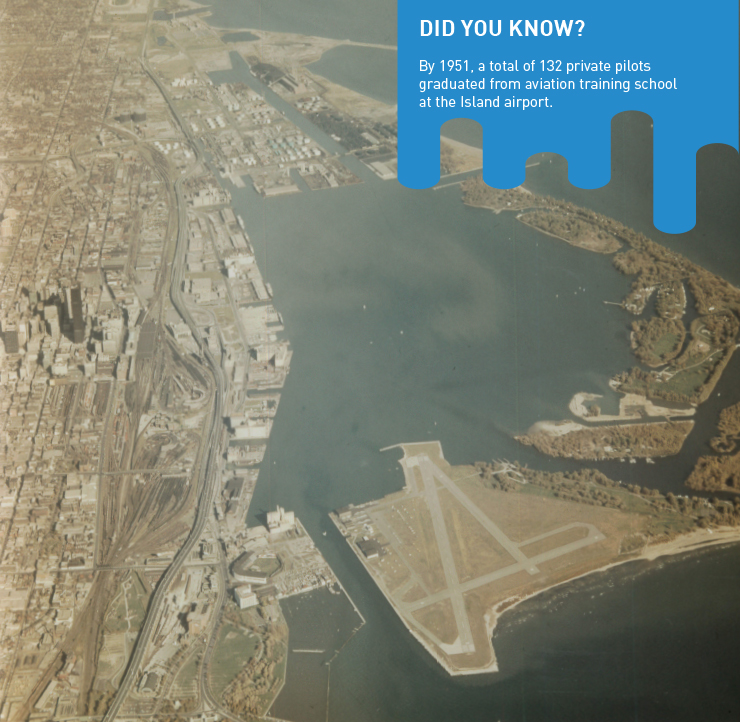 Aerial view of Downtown, Toronto Island and the airport