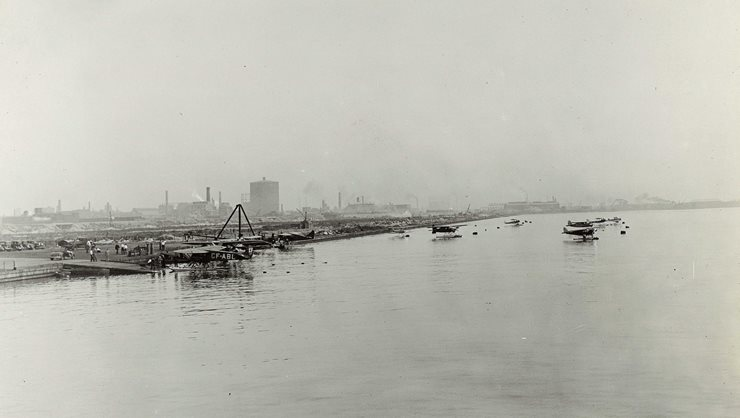 Seaplanes at beginnings of airport