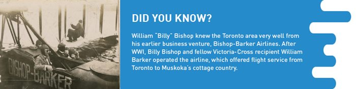 Bishop-Barker airplane with info on Billy Bishop and William Barker