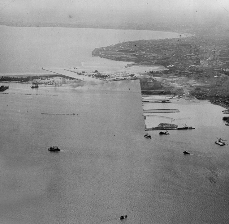 Toronto Harbour aerial view
